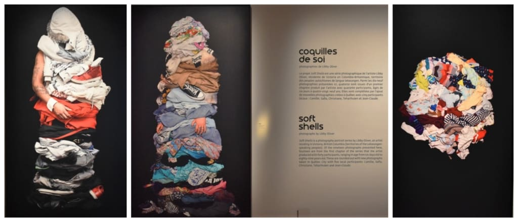 The temporary exhibit Soft Shells highlighted how people can be viewed by their collective wardrobes.