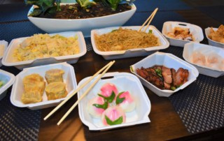 This table full of goodies is a great example of the Creative Cantonese dishes that can be found at ABC Cafe in Overland Park, Kansas.