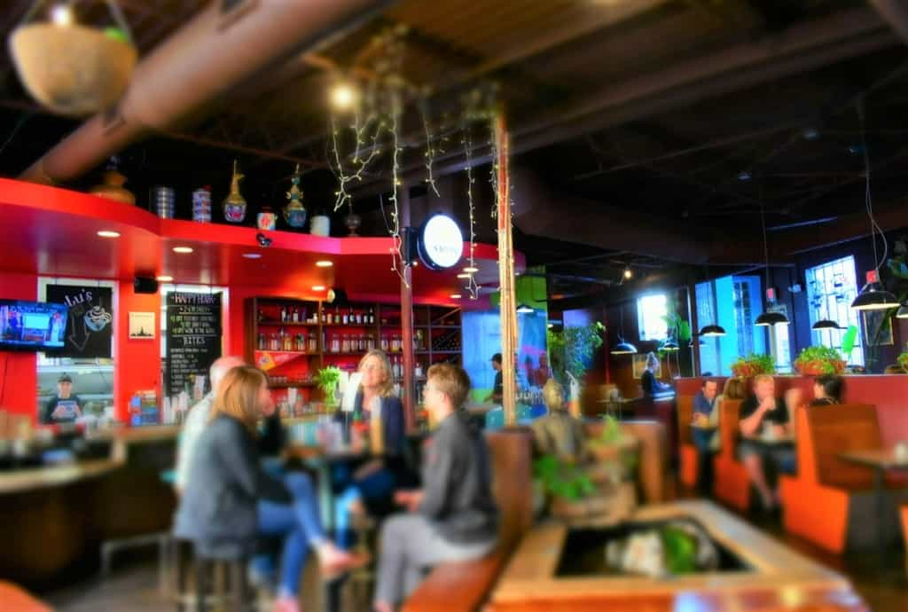 Lulu's Noodles is a bustling stop for Happy Hour in the Crossroads District of Kansas City.