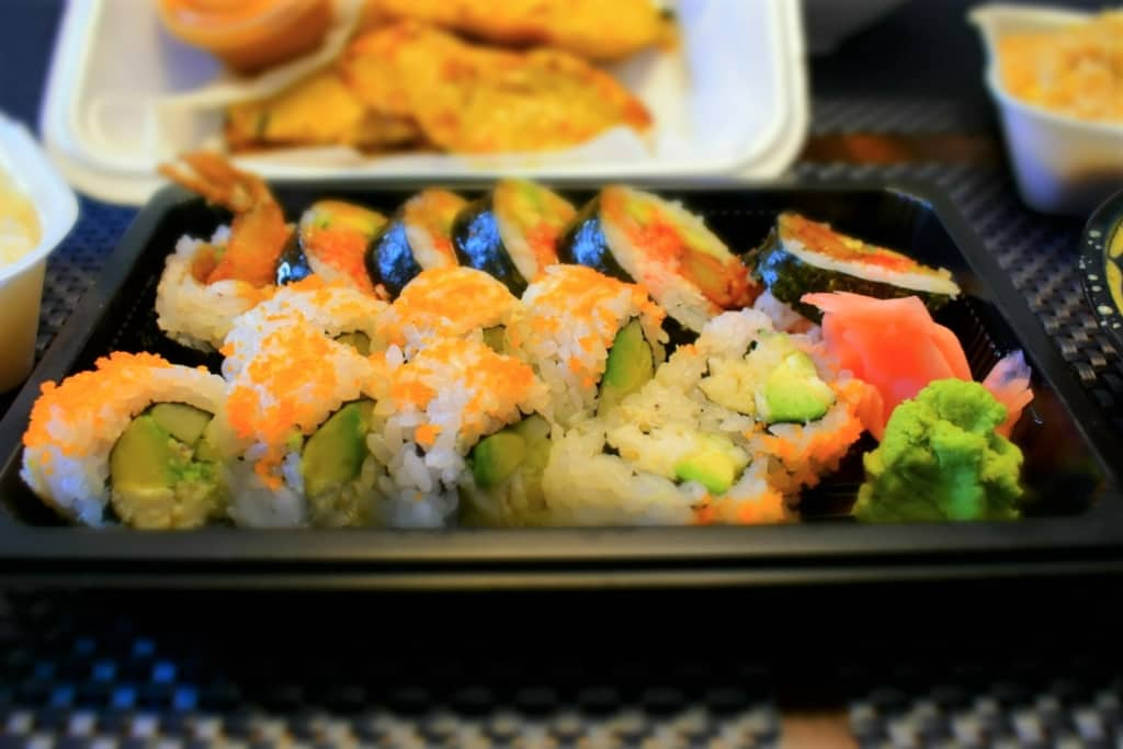 We could taste the textures of the sushi rolls from Naree kitchen.