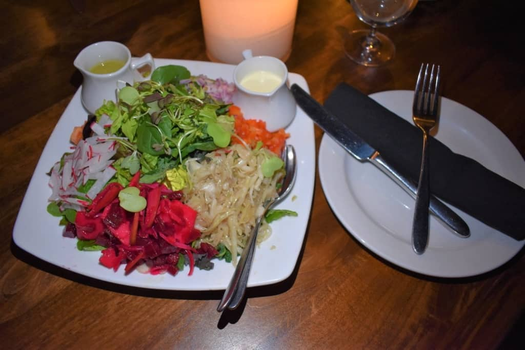 A fresh chopped salad is the perfect start to an evening of German smorgasbord dishes.