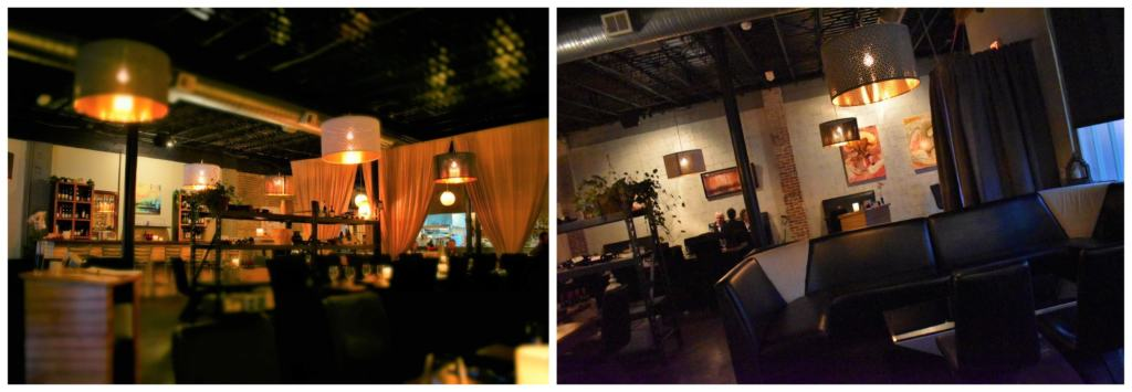 The roomy interior of Affare, in Kansas City, is the perfect place for social distancing and German smorgasbord dining.
