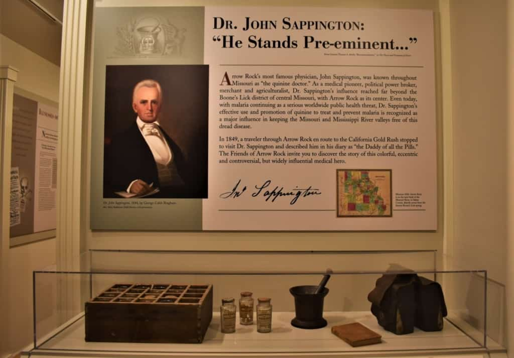 Dr. Sappington's works are highlighted at the Sappington Museum in Arrow Rock, Missouri.