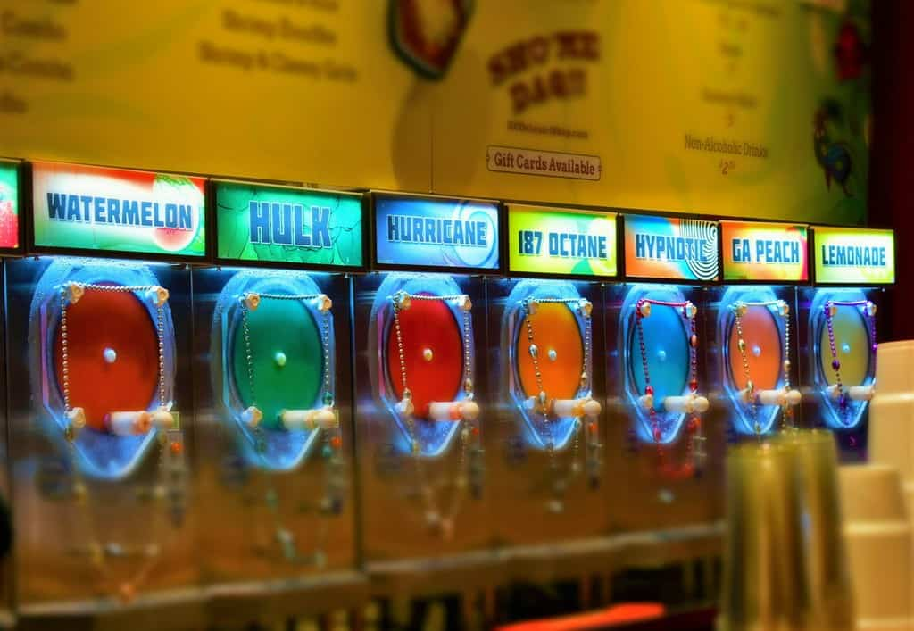 The colorful concoctions promise delicious flavors of daiquiris.