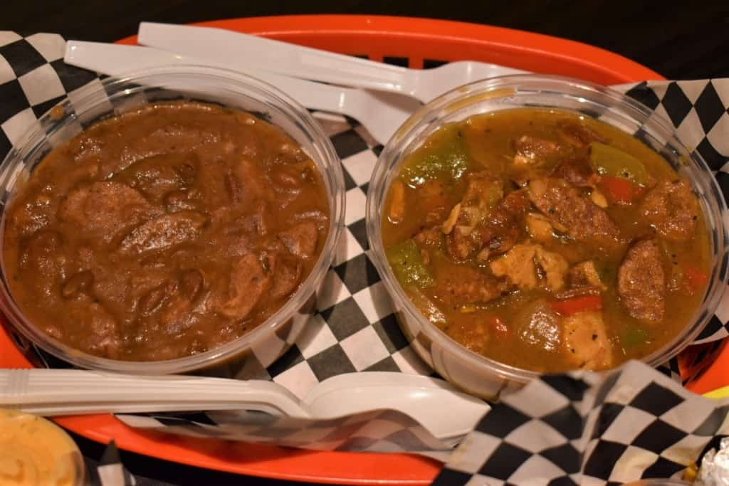 Flavorful side dishes round out a Cajun dinner from KC Daiquiri Shop.