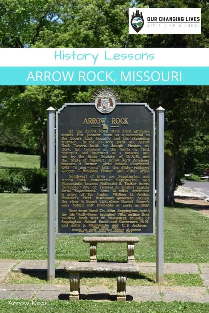 History Lessons-Village of Arrow Rock-Missouri-Civil War-Boone's Lick
