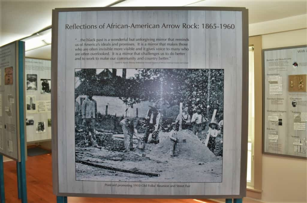 The African American Experience museum offers visitors a glimpse into the struggle for freedom made by the black residents in Arrow Rock, Missouri.