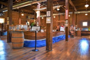 The newly designed space, for the River, Rails, and Trails Museum, welcomes visitors to Boonville, Missouri.