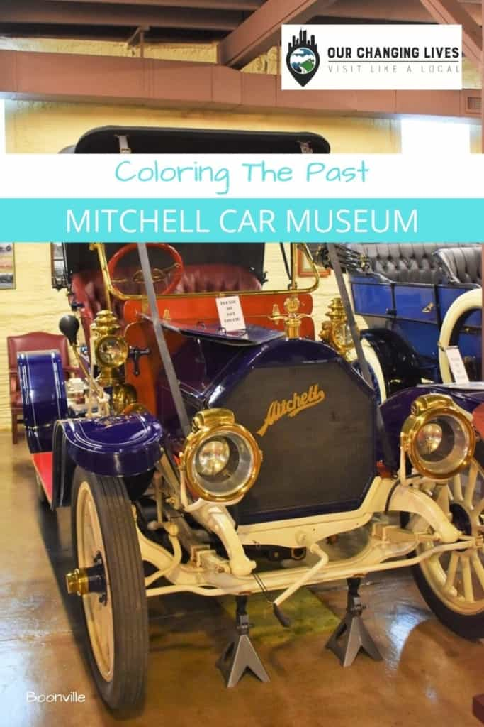 Mitchell Car Museum-Coloring the Past-Mitchel Motor Car Company-wagons-motorcycles