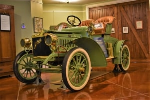 The colorful models of Mitchell automobiles helped them stand out from the crowd.