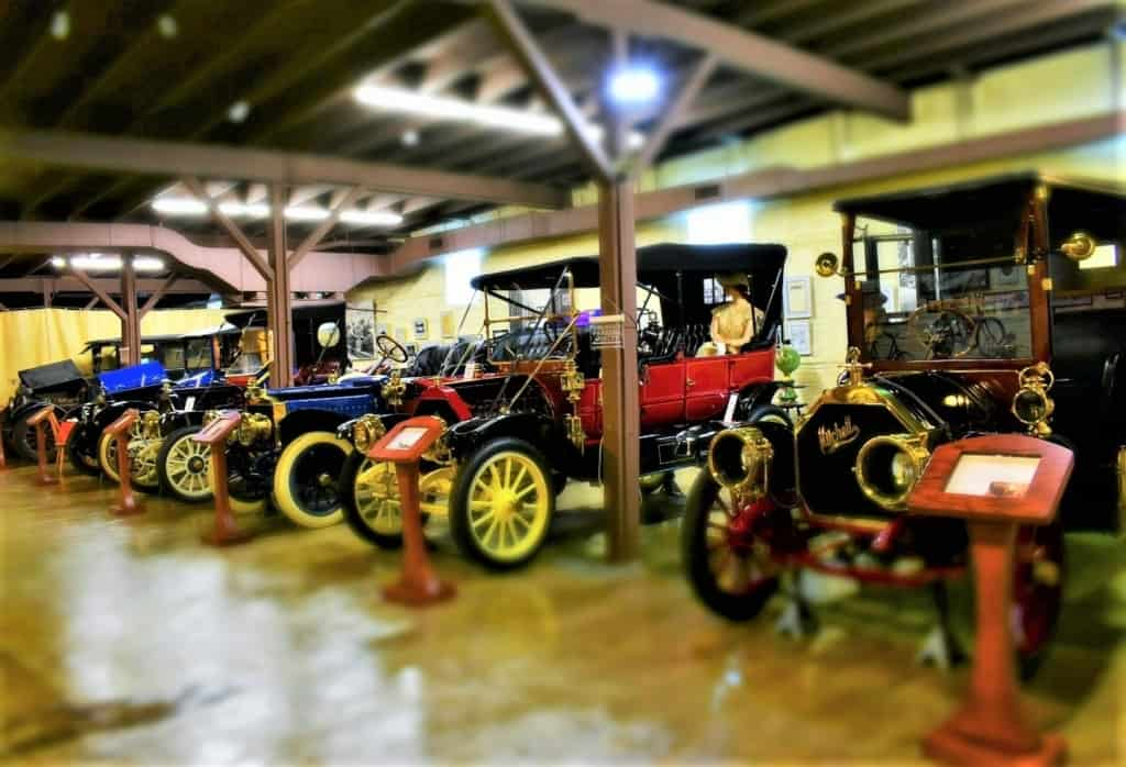 The Mitchell Car Museum is filled with exquisite examples of early automobile design.