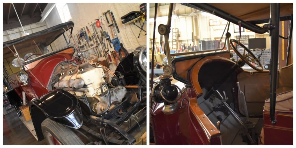 We found this classic vehicle in the midst of restoration at the Mitchell Car Museum.
