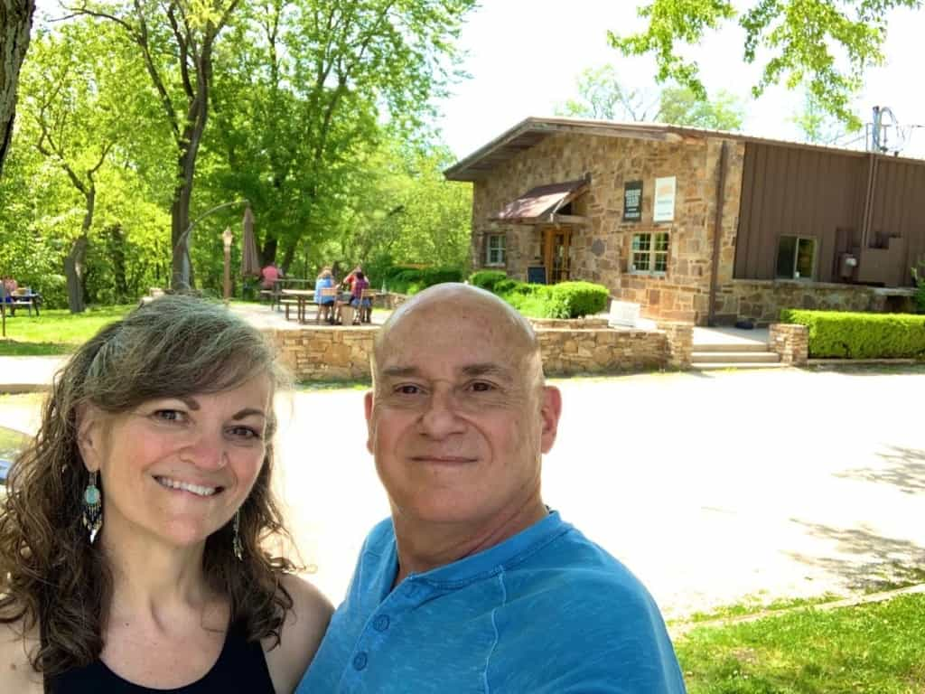The authors enjoy their escape from the city in Weston, Missouri.