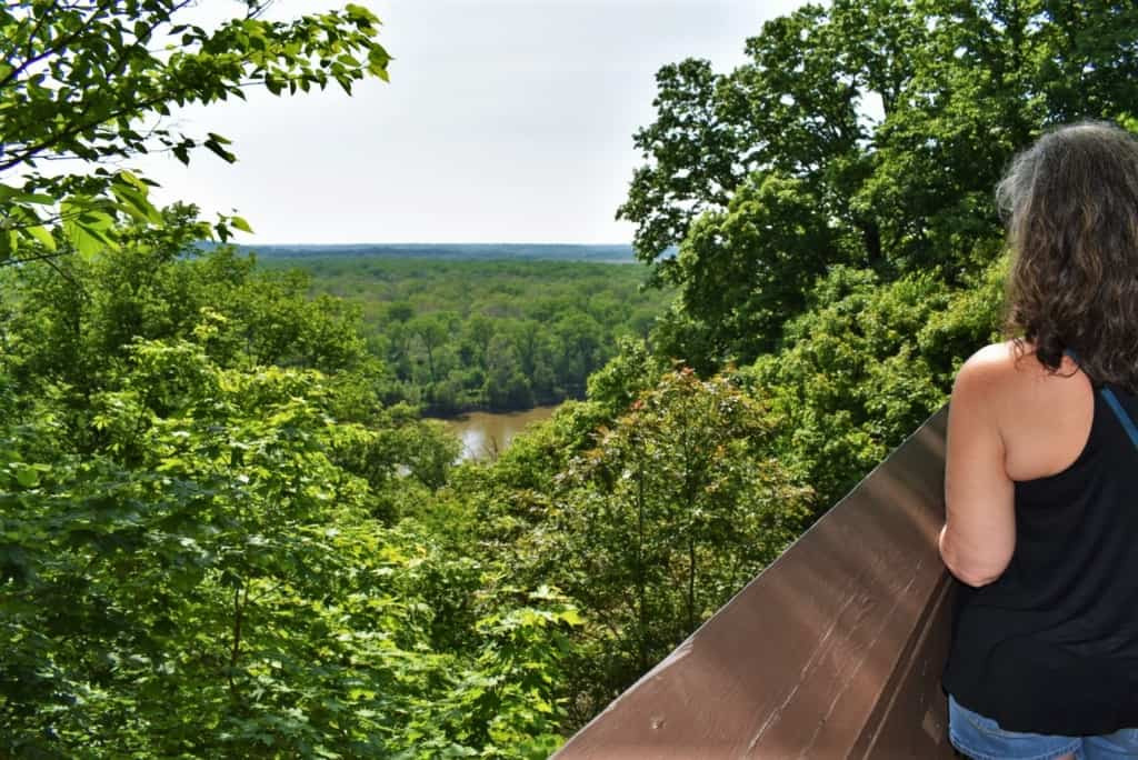 The view of the Missouri River is amazing from this perch located in Weston bend State Park.