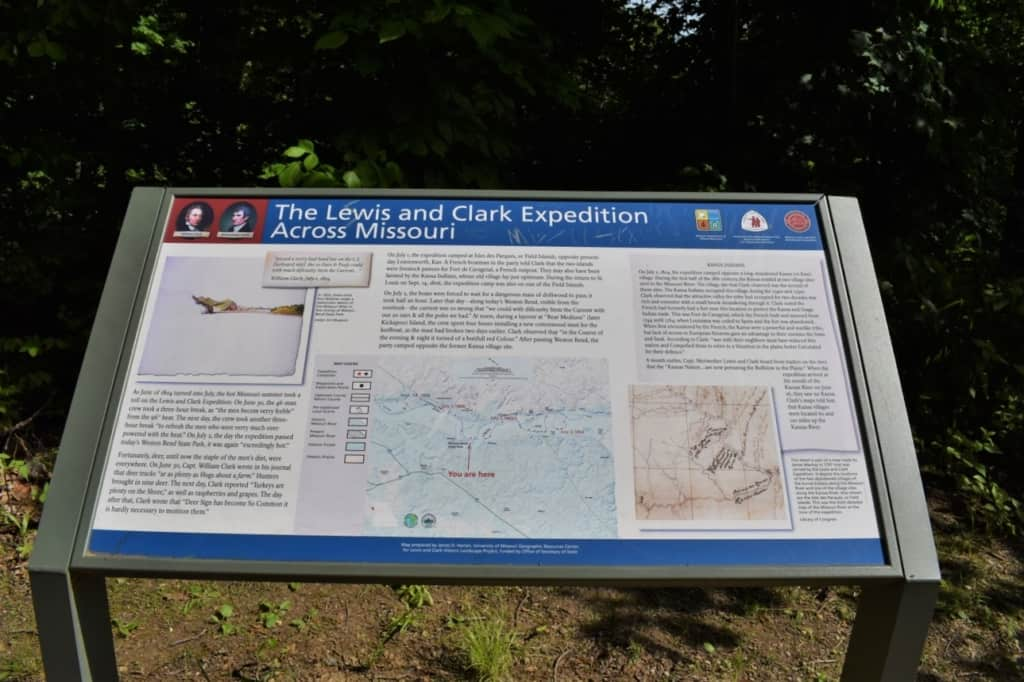 Lweis and Clark stopped in this area during their exploration of the newly acquired Louisiana Purchase territory.