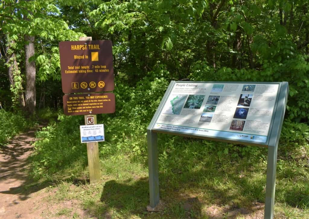 Harpst Trail is one of many that bisect Weston Bend State Park.