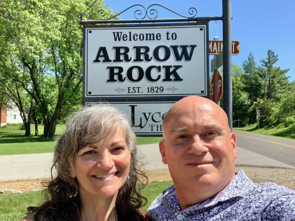 The authors pose for one final selfie before heading home from Arrow Rock, Missouri.