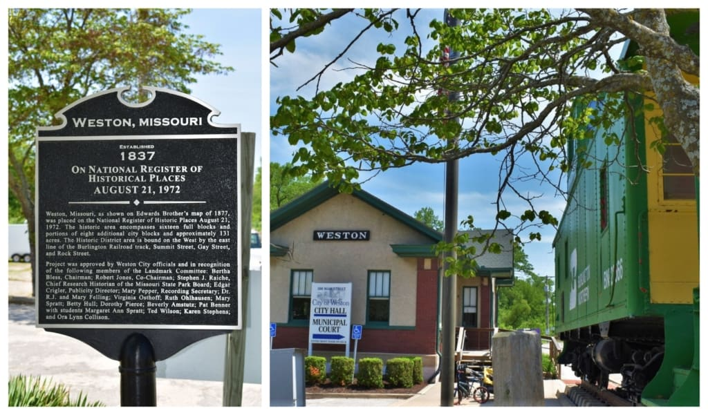 Weston, Missouri is an original river town that served as a jumping off point for explorers heading west.