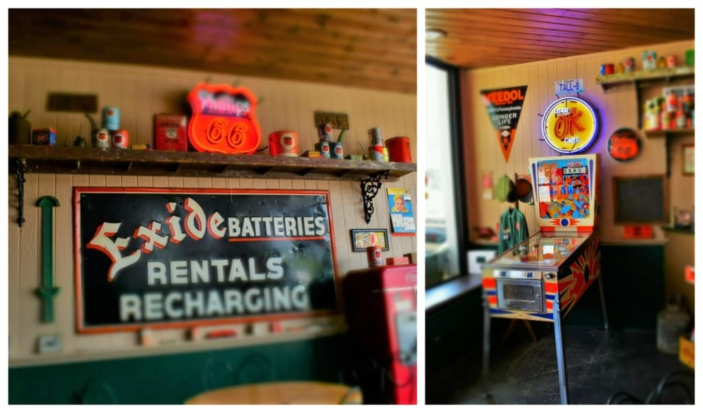 Inside Hiatt Motors we found an array of artifacts from the glory days of road trips.