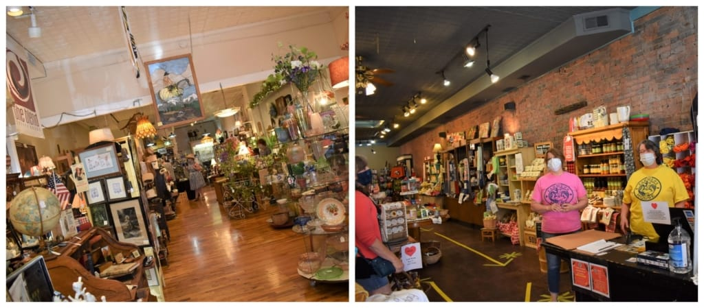 There is an assortment of shops to peruse in downtown Weston, Missouri.