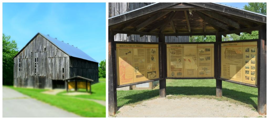An old tobacco barn is a reminder of the agricultural base that ruled this region.