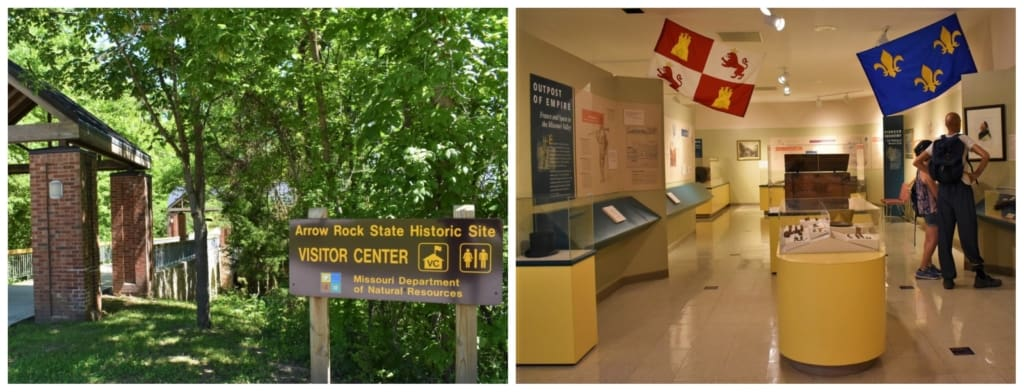 The Arrow Rock Visitor Center is a good place to begin your history lessons on this historic village.