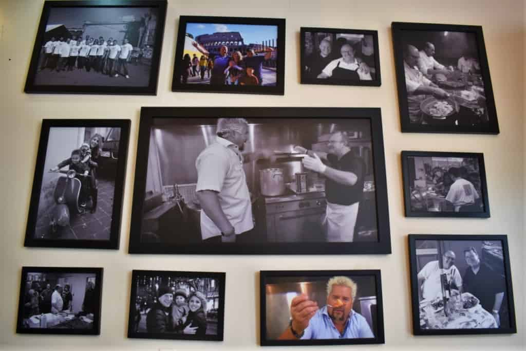 The photos on the walls of Cupini's show that friends and family are very important to the staff.