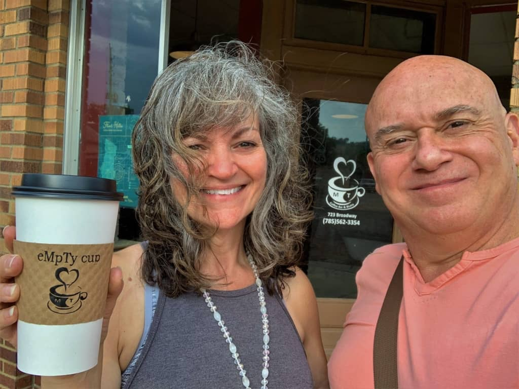 Starting our day with coffee is just one more way we explored Marysville dining options.