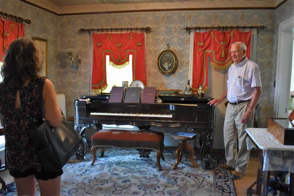 John Howard was a great host and tour guide during our visit to the Koester House and Gardens.