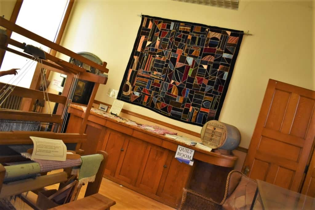 The Quilt Room is filled with beautiful artifacts and background stories.