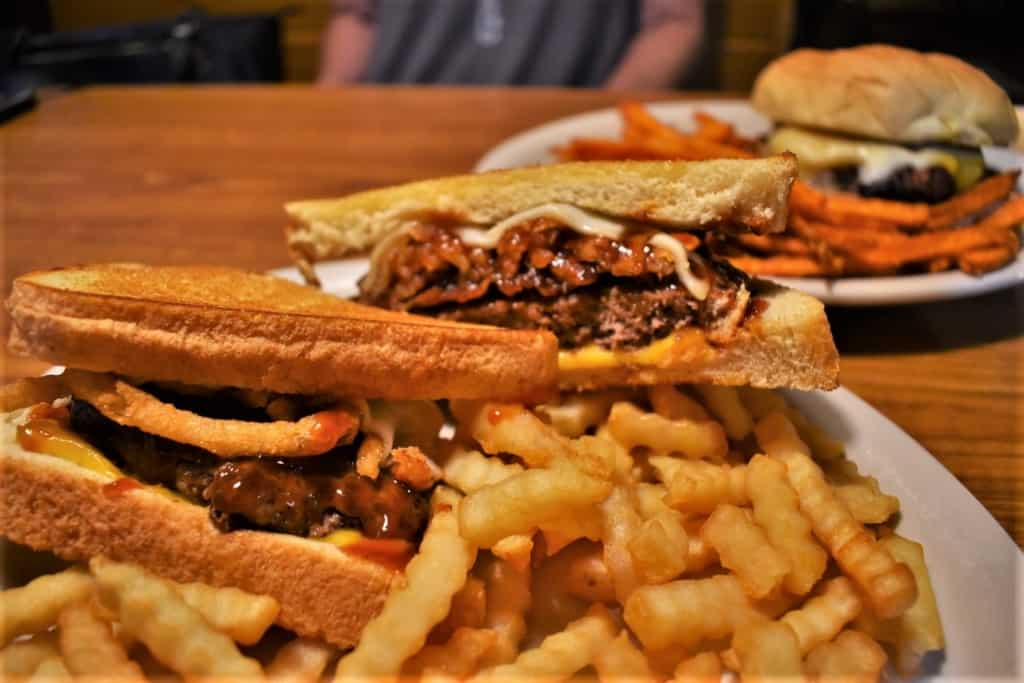 Beefy burgers are a local favorite at The Wagon Wheel in Marysville, Kansas.
