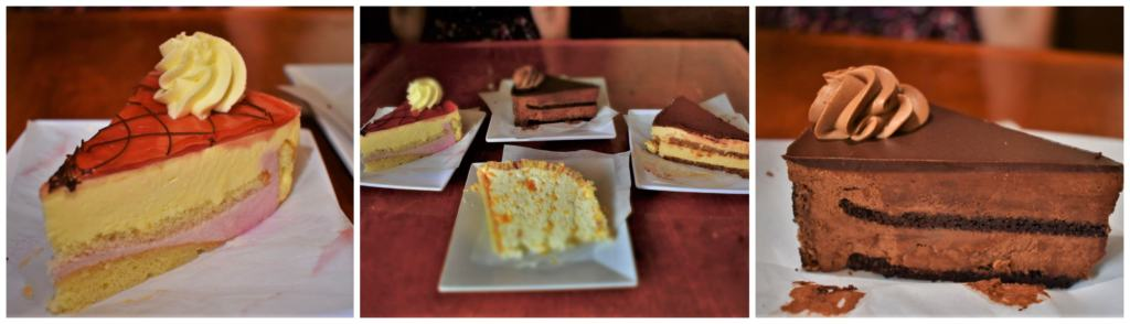 An assortment of delicious desserts were more temptation that we could resist.