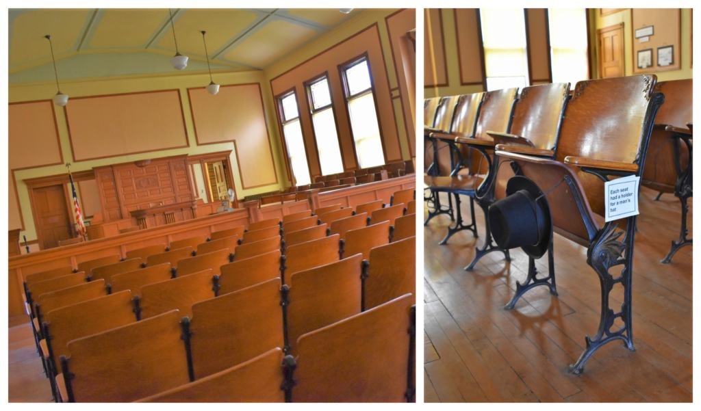 Exploring the Marshall County Courthouse included many background stories about the city's past.