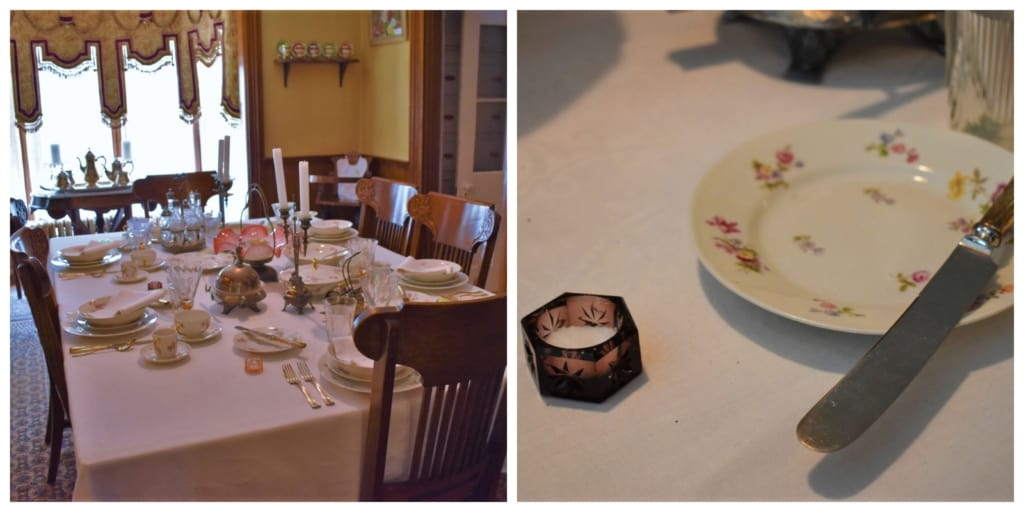 A table setting shows the level of luxury found at the Koester House in Marysville, Ks.