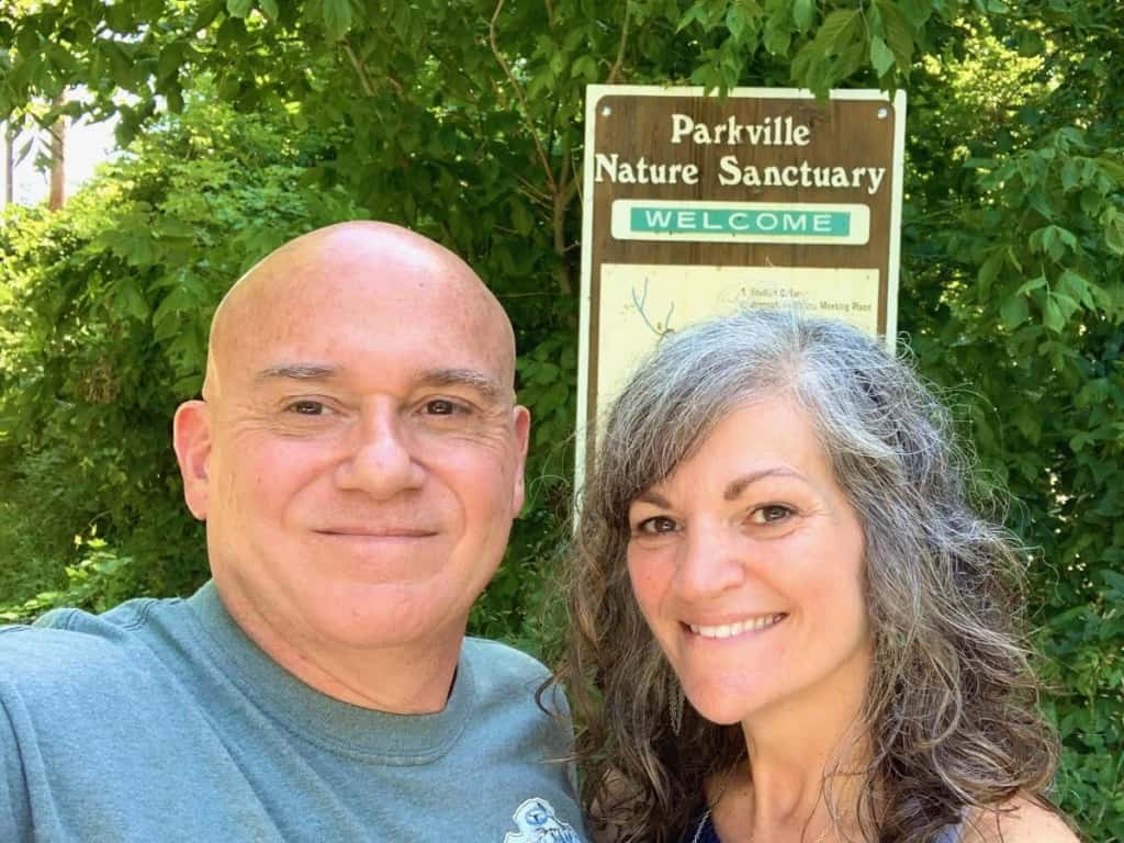 The authors pose for a selfie after a refreshing hike at the Parkville Nature Sanctuary.