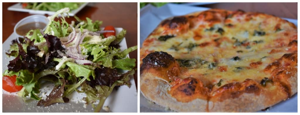 Salad and a pizza make for a delicious appetizer before a filling meal at Cupini's in Kansas City.
