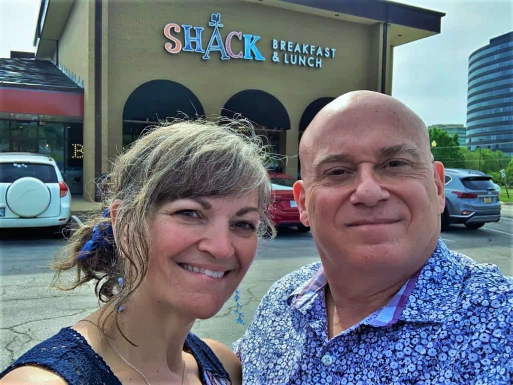 The authors enjoyed their morning of funny names and fantastic food at The Shack in Kansas City.