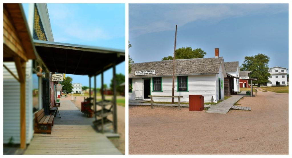 Railroad Town is a collection of buildings that represent how a town would have looked during prairie life in 1890.