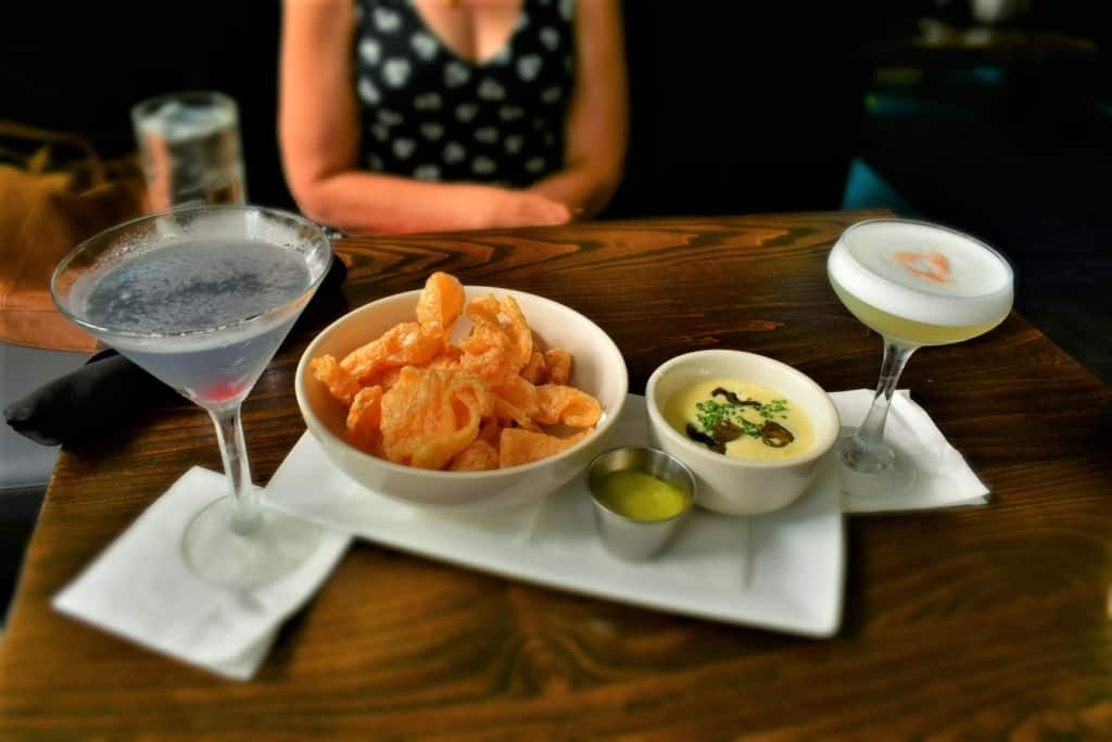 The addition of chicharrons with the Queso Dip made this appetizer extra special during our visit to Brown & Loe.