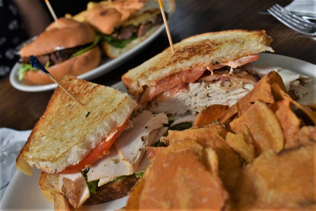 The Turkey Club Sandwich is packed full of flavor and provides a filling meal.