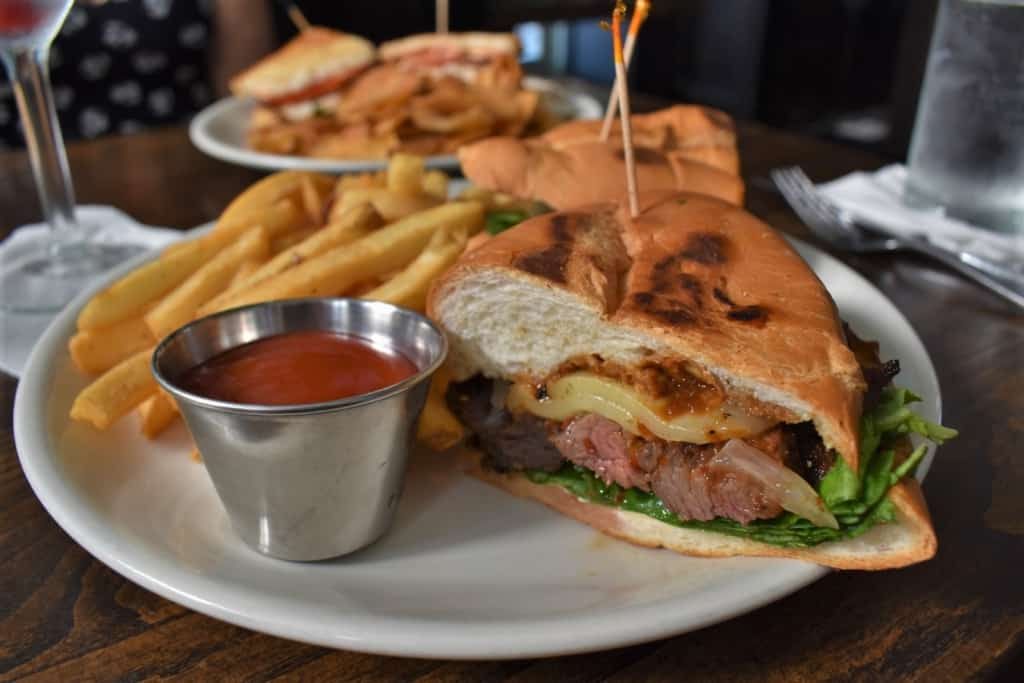 A Steak Sandwich provides a ton of protein, which fueled our evening explorations.