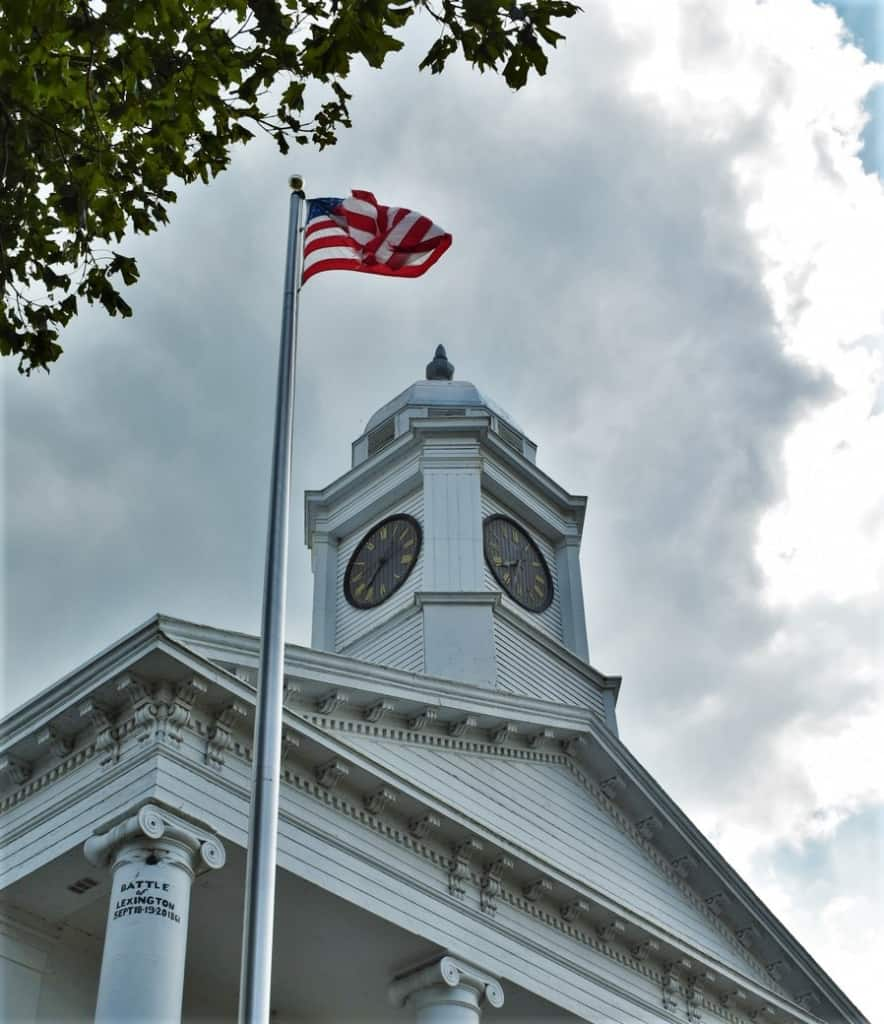 A cannonball embedded in a courthouse column has an unusual backstory.