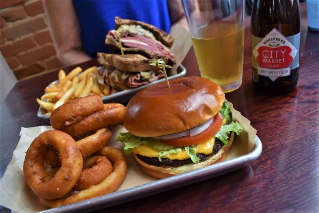 An All-American Burger is a great choice for a filling meal.