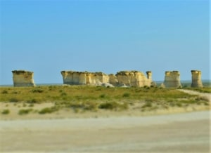 The Chalk Pyramids rise to the sky in Western Kansas.