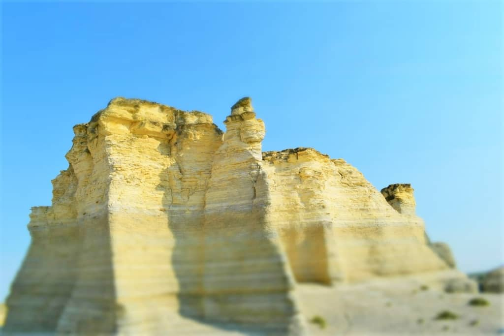 The variations of shapes in the Chalk Pyramids changes as erosion plays its part.