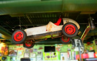 Starting our engines began with views of classic race cars hanging from the ceiling at Thunder Road Grill.