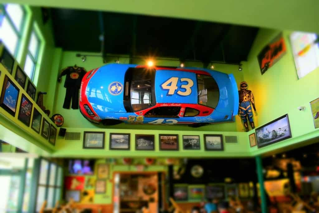 Seeing a Richard Petty NASCAR race car had us starting ur engines to do more exploring of this place.