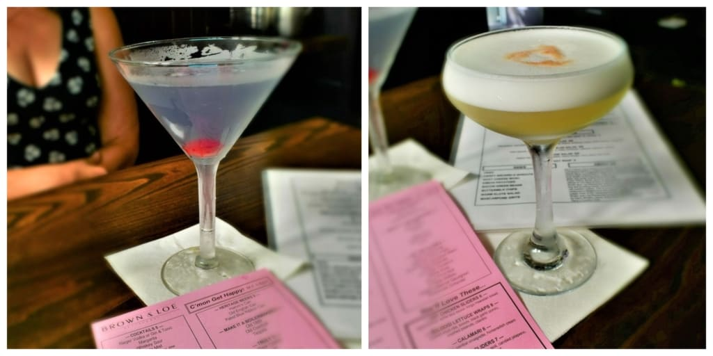 We enjoyed sampling a couple of the craft cocktails at Brown & Loe.
