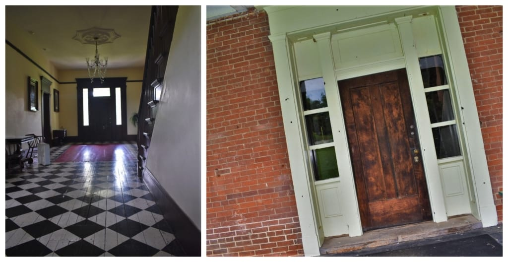You can still see the bullet holes in the Anderson House, when you visit the Battle of Lexington Historic Site.