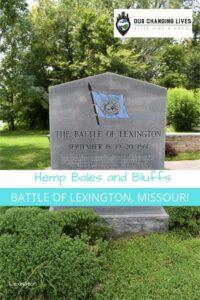 Hemp bales and Bluffs-Battle of Lexington, Missouri-Civil War-Little Dixie